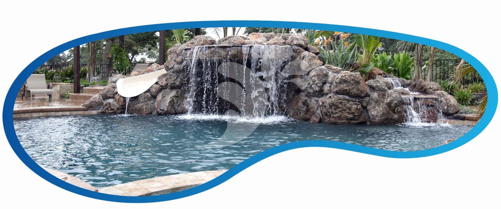 Custom Pool Waterfalls and Pool Grottos by Fresh Finish Pools